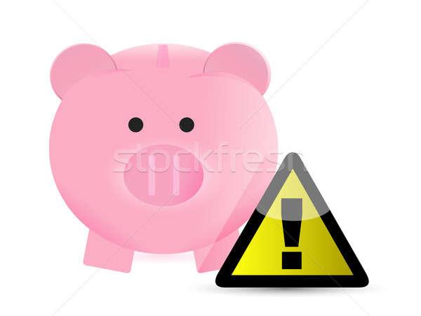 monetary savings warning illustration design over a white backgr Stock photo © alexmillos