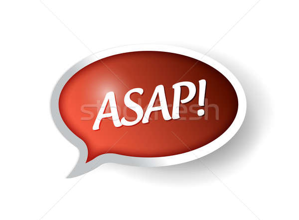 Asap message bubble illustration  Stock photo © alexmillos