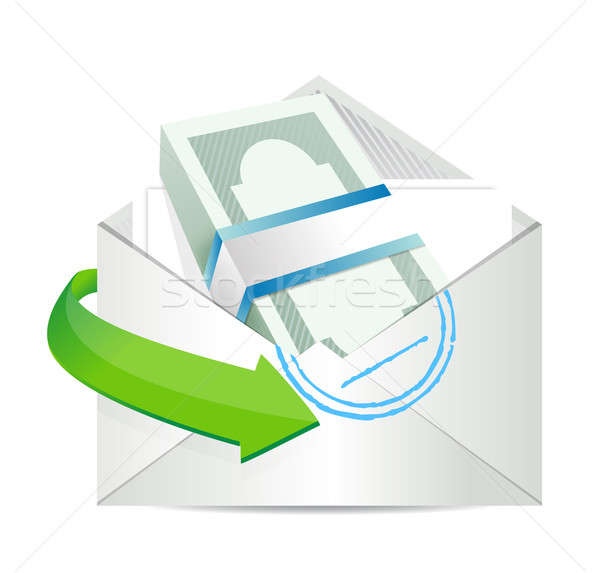 mailing payment. concept illustration design over a white backgr Stock photo © alexmillos