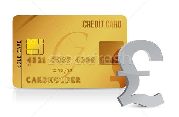 Libra cartão de crédito ilustração projeto dinheiro compras Foto stock © alexmillos