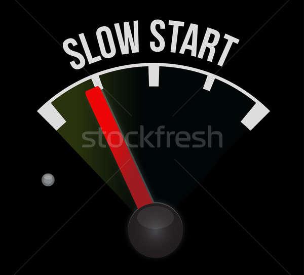 Slow start speedometer Stock photo © alexmillos