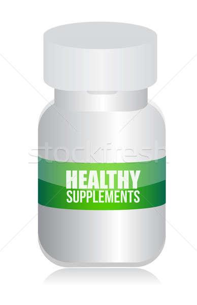 Healthy medical supplement pills jar  Stock photo © alexmillos