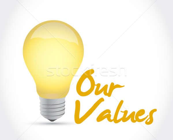 our values ideas concept illustration design over a white backgr Stock photo © alexmillos