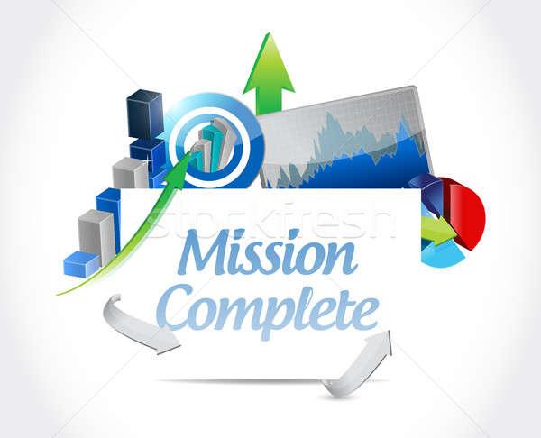 Küldetés teljes üzlet felirat illusztráció terv Stock fotó © alexmillos