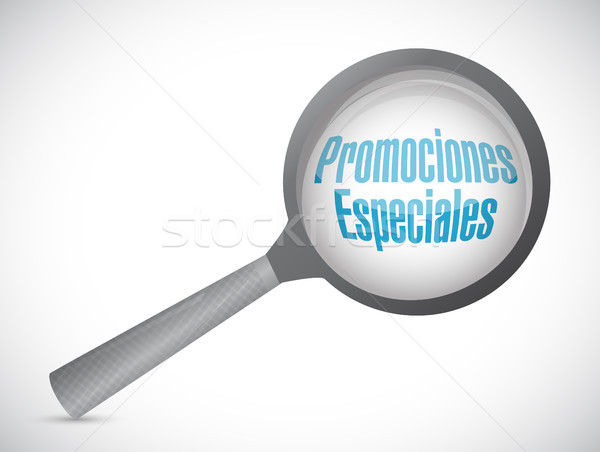 special promotions in Spanish review sign concept Stock photo © alexmillos