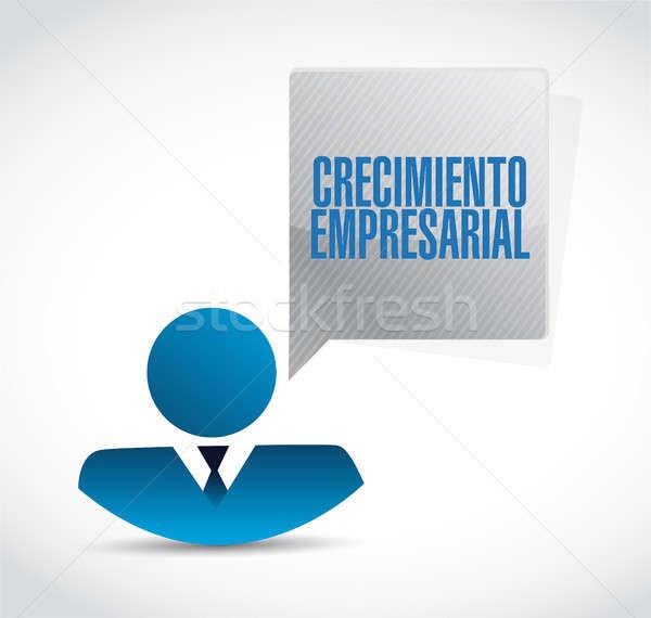 Negocios crecimiento empresario signo espanol ilustración Foto stock © alexmillos
