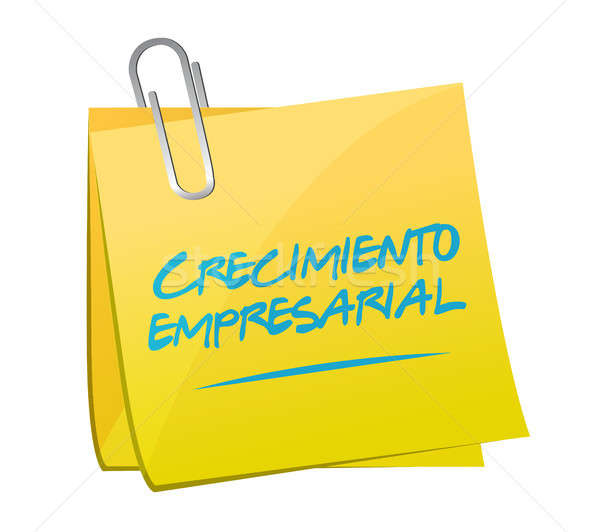 Business Growth post sign in Spanish. Stock photo © alexmillos