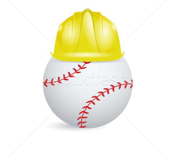 Baseball képzés építkezés illusztráció terv fehér Stock fotó © alexmillos