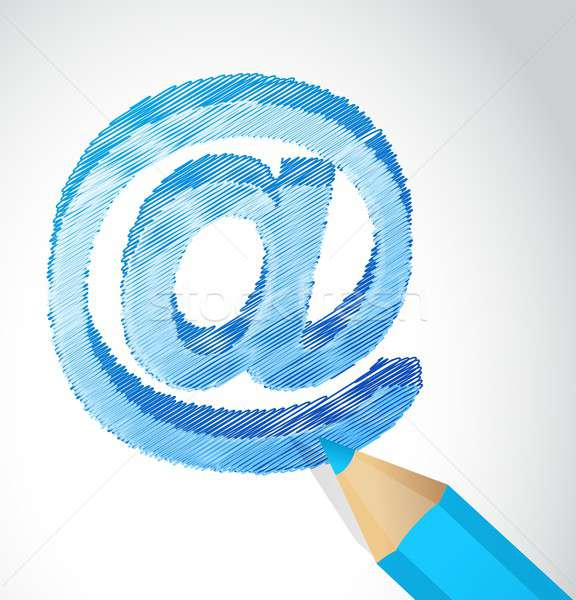 internet scribble communication concept Stock photo © alexmillos
