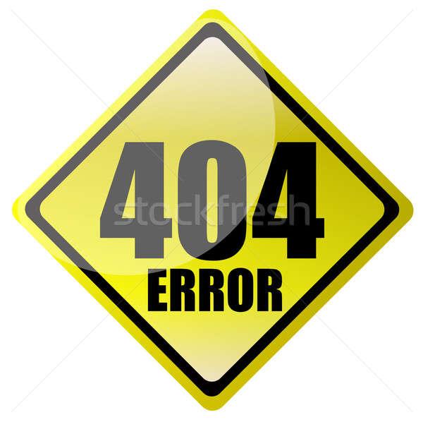 Stock photo: 404 error sign