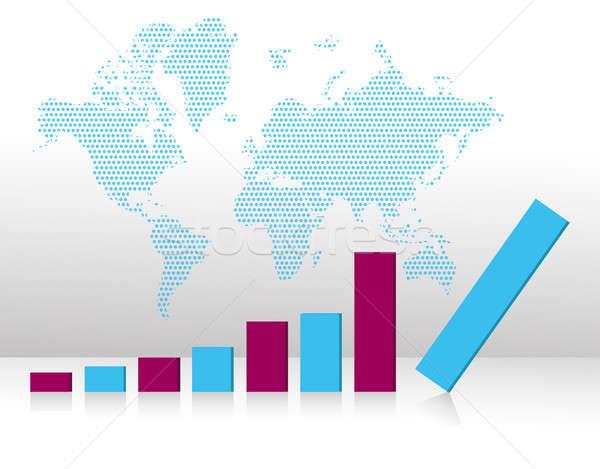 bar graph chart falling illustration Stock photo © alexmillos