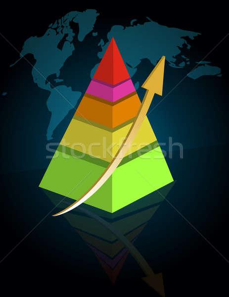 Vertical successful pyramid image Stock photo © alexmillos