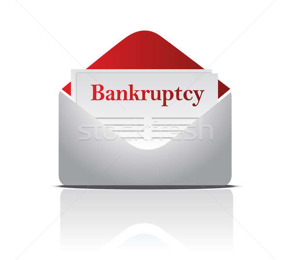 bankruptcy notice letter and envelope over a white background Stock photo © alexmillos