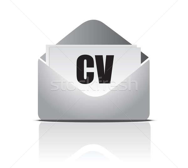 Curriculum vitae (resume) opened envelope concept Stock photo © alexmillos