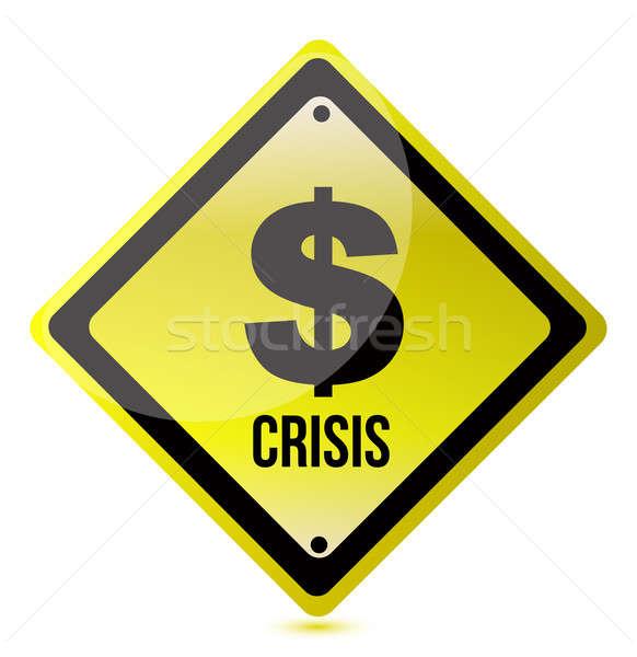Citromsárga dollár válság felirat illusztráció terv Stock fotó © alexmillos