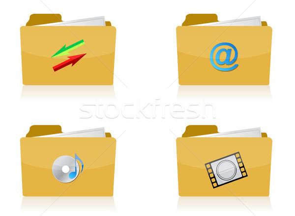 Zdjęcia stock: Zestaw · inny · cztery · ikona · ilustracja