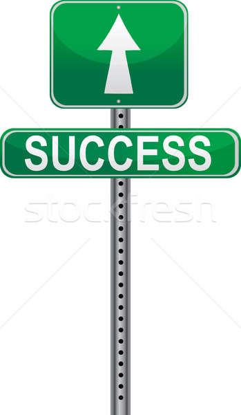 Success sign - Conceptual picture of life's paths. Stock photo © alexmillos