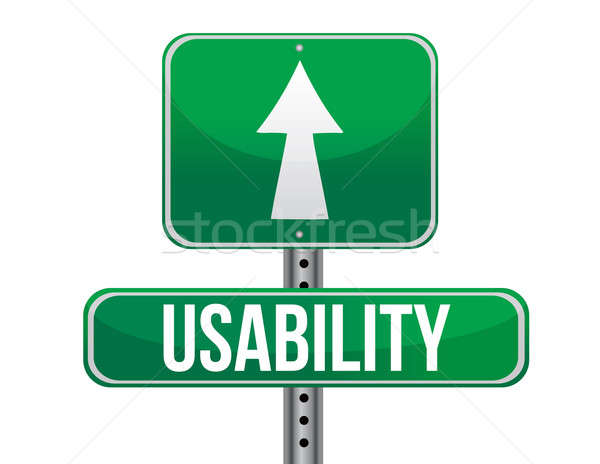 usability sign illustration design over a white background Stock photo © alexmillos