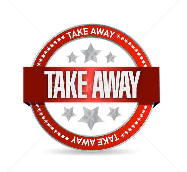 Take away seal illustration design over a white background Stock photo © alexmillos