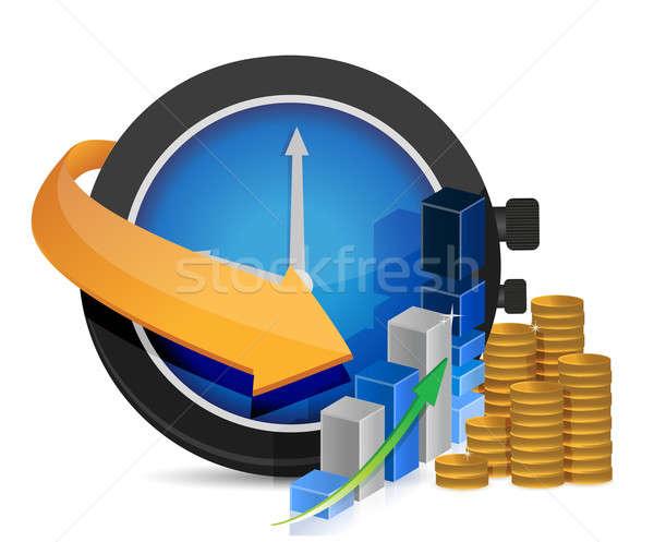 Business il tempo è denaro illustrazione design bianco soldi Foto d'archivio © alexmillos