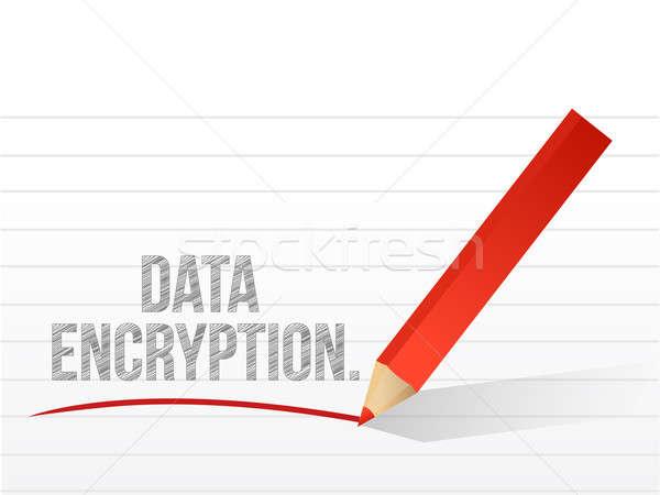 Data encryption written on a white piece of paper  Stock photo © alexmillos