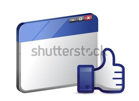 Jak podpisania internetowych przeglądarka Internetu ulicy Zdjęcia stock © alexmillos