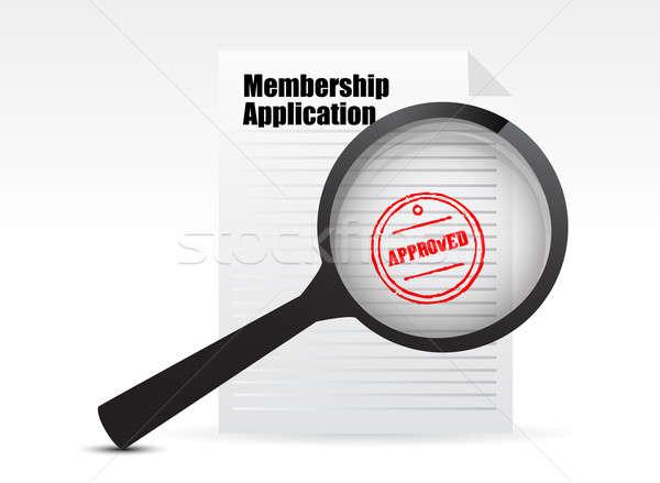 членство применение бизнеса бумаги информации документа Сток-фото © alexmillos