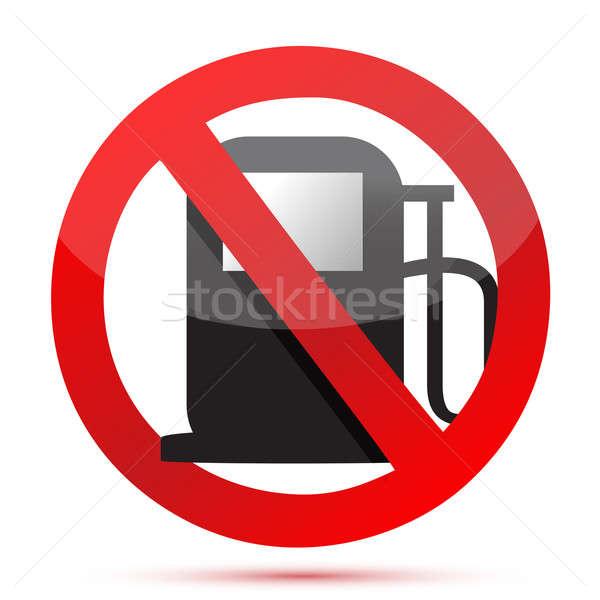 Nem gázolaj benzinpumpa felirat utazás olaj Stock fotó © alexmillos