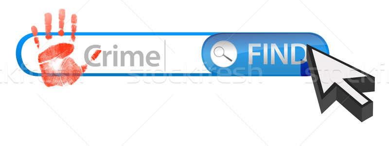 Web crime search concept Stock photo © alexmillos