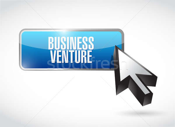 business venture button sign concept Stock photo © alexmillos