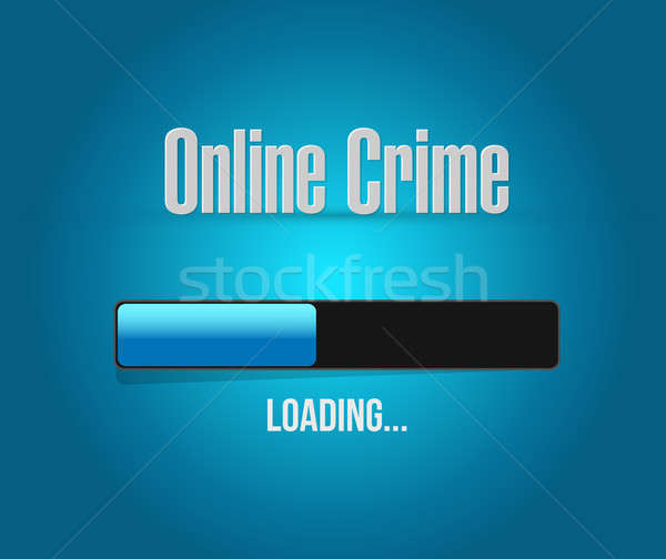 online crime loading bar sign concept Stock photo © alexmillos