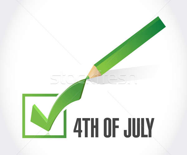 4th of July check mark sign concept Stock photo © alexmillos