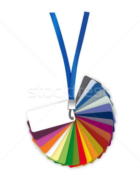 Renk paletine rehberlik örnek dizayn beyaz Stok fotoğraf © alexmillos