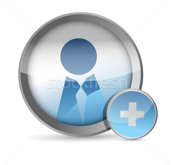 Add a Friend icon illustration design Stock photo © alexmillos
