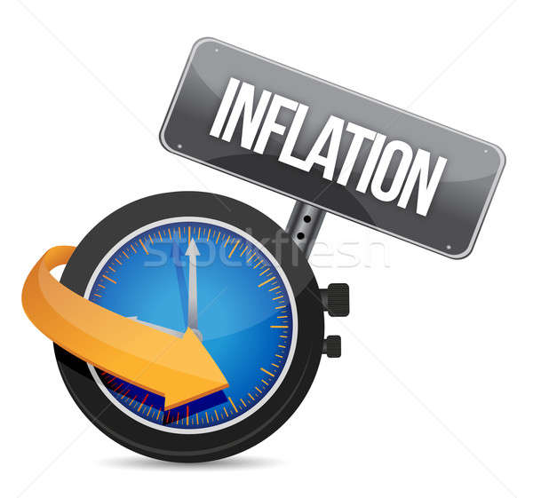inflation concept illustration design Stock photo © alexmillos