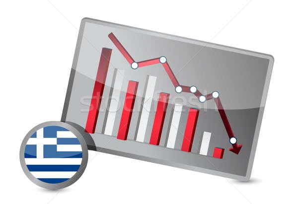 greece suffering crisis graph design Stock photo © alexmillos