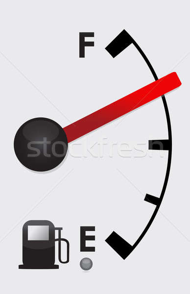 Detailed Gas tank almost Full - illustration design Stock photo © alexmillos