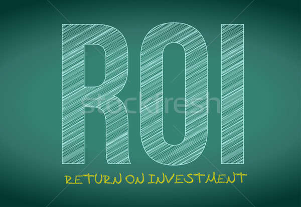Roi voltar investimento escrito quadro-negro ilustração Foto stock © alexmillos