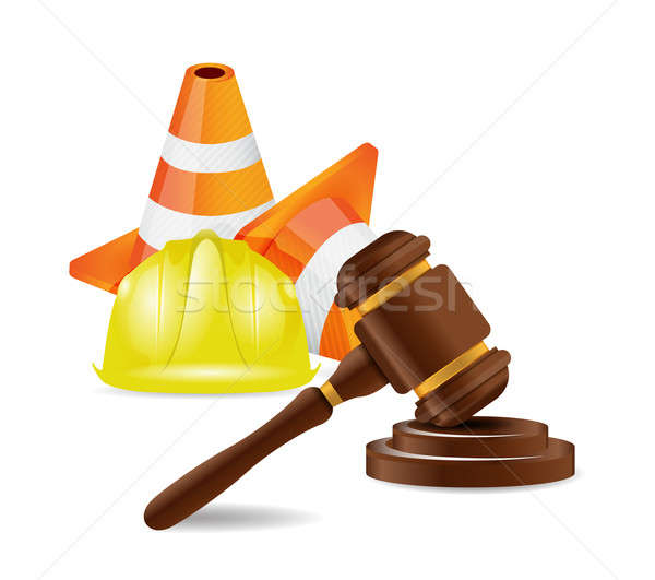 work accident lawyer concept illustration design over white Stock photo © alexmillos