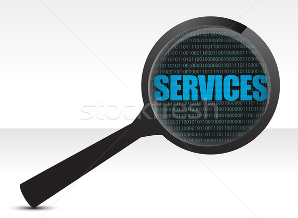 Services under review concept illustration design over white Stock photo © alexmillos