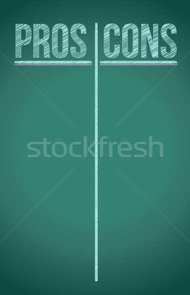 Pros and Cons List written in white chalk illustration design Stock photo © alexmillos