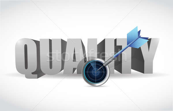 Quality and radar target illustration design Stock photo © alexmillos