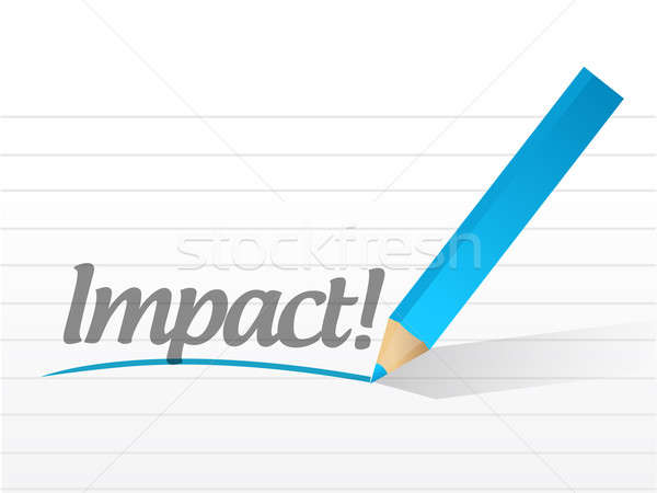 impact written on a white paper. illustration design notepad pap Stock photo © alexmillos