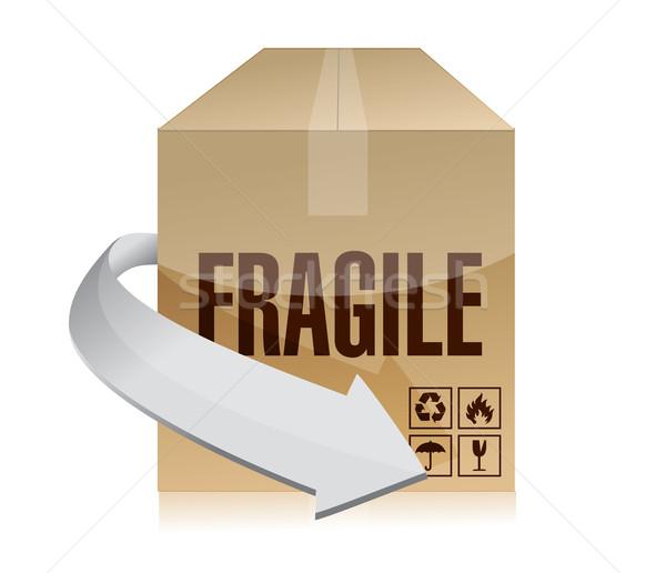 Fragile box illustration design Stock photo © alexmillos