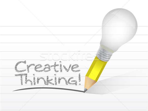 創造的思考 メッセージ 書かれた 電球 ビジネス 光 ストックフォト © alexmillos