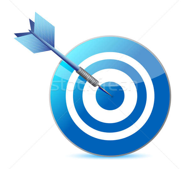 Target and dart illustration design Stock photo © alexmillos