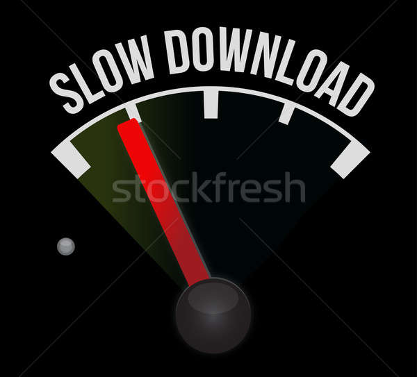 Slow download speedometer  Stock photo © alexmillos