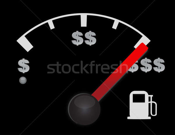 Gas gauge of a car with dollar symbols Stock photo © alexmillos