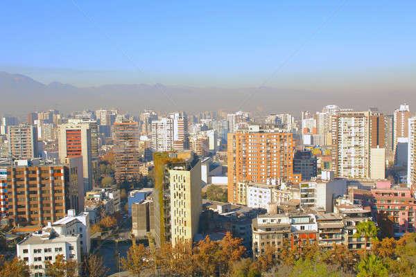 Santiago Chile negócio céu Foto stock © alexmillos