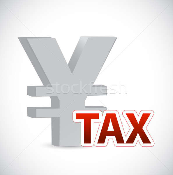 Yen currency tax sign concept illustration Stock photo © alexmillos